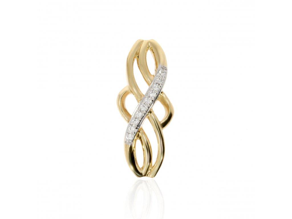 Zlatá souprava s diamanty (Kameny S Diamanty, Materiál Žluté zlato, Šperk Prsten)