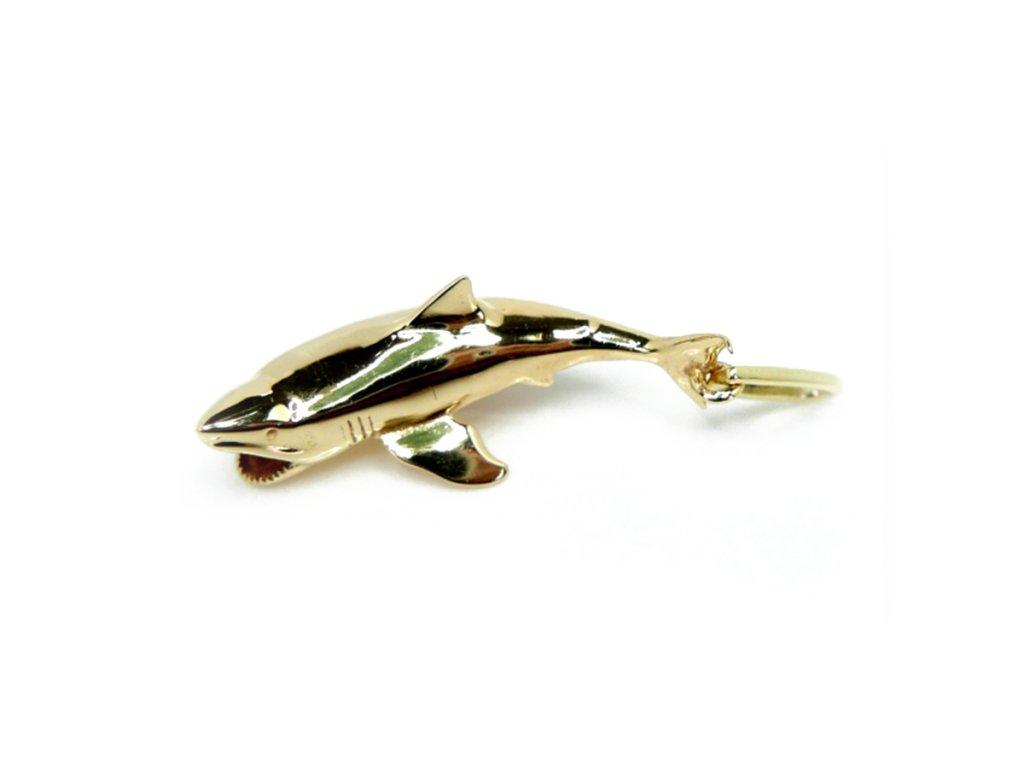 Zlatý přívěšek žralok