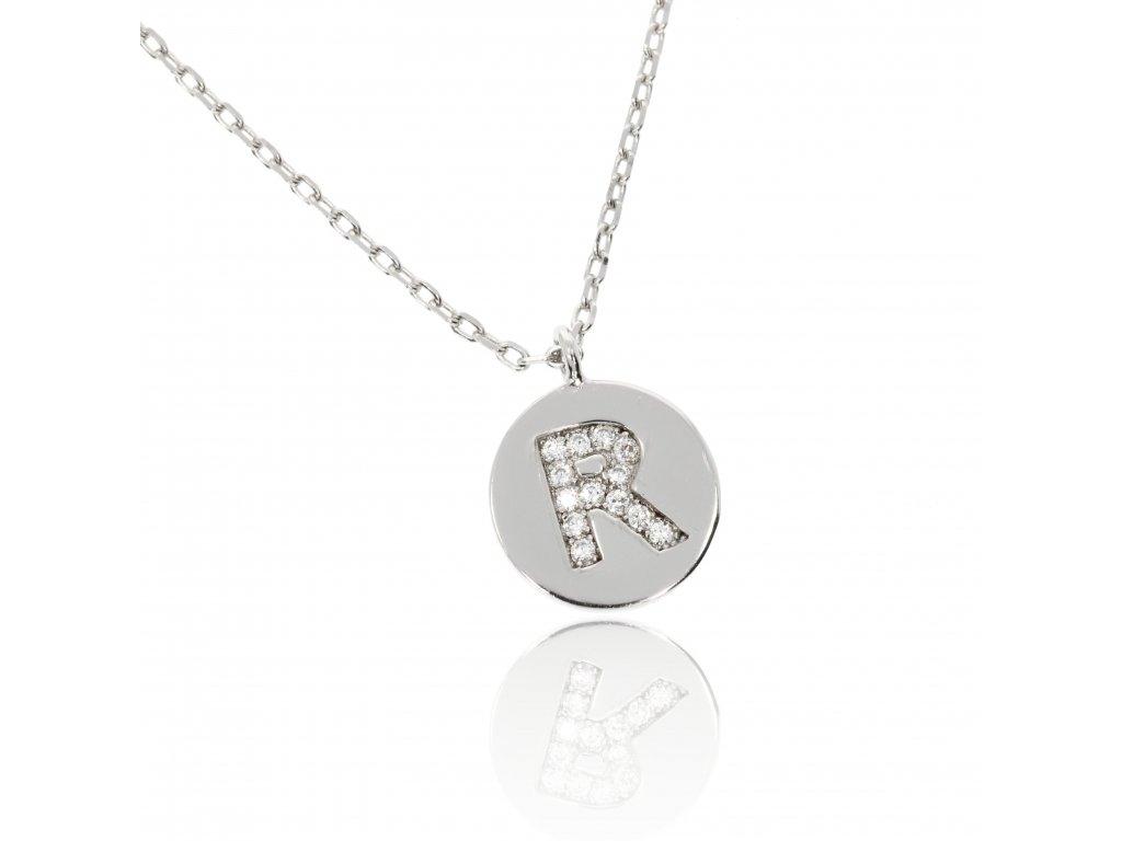 Stříbrný náhrdelníček s písmenem R