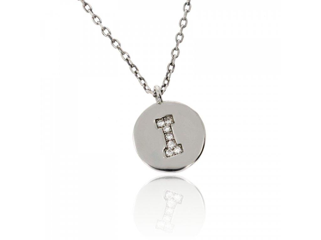 Stříbrný náhrdelníček s písmenem I