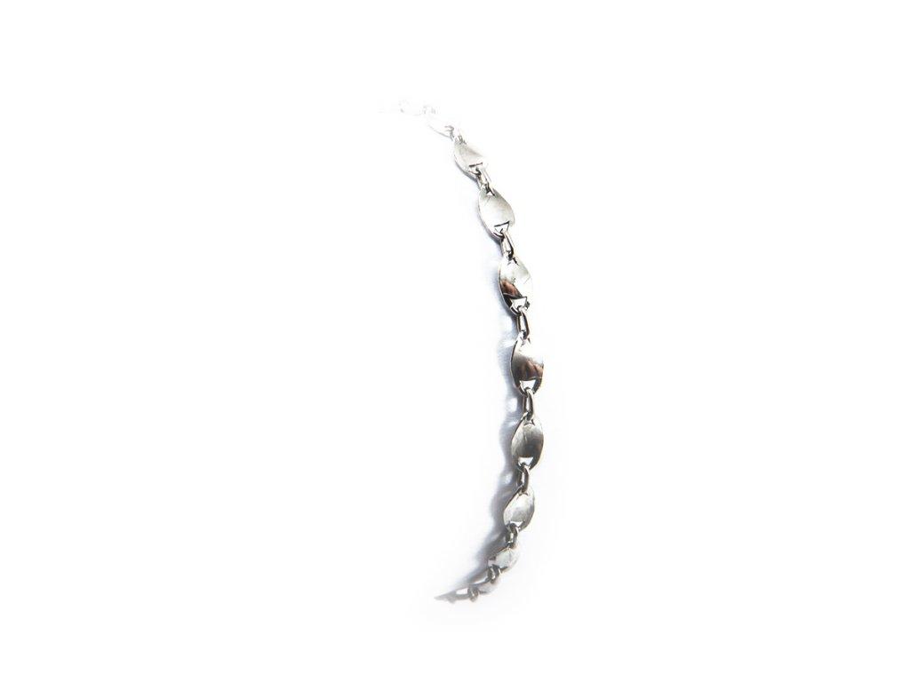 Stříbrný náramek (Materiál Stříbro, Velikost 17cm, Váha 1,7g)