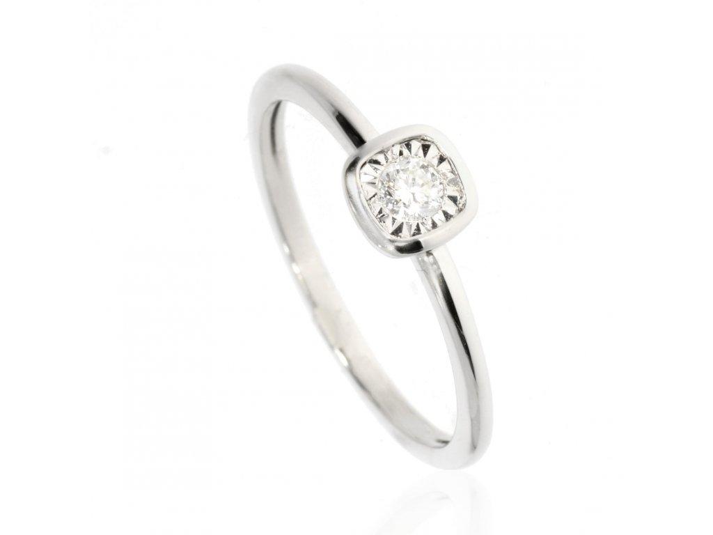 6398 zlaty prsten s briliantem