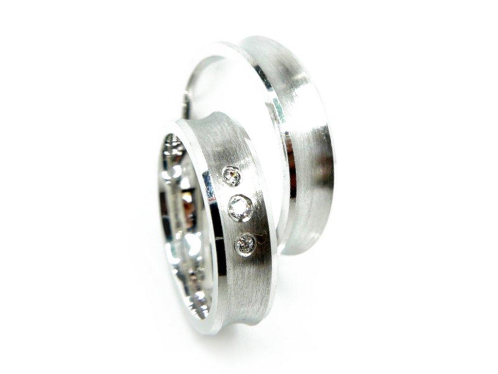 4787 2 zlate snubni prsteny