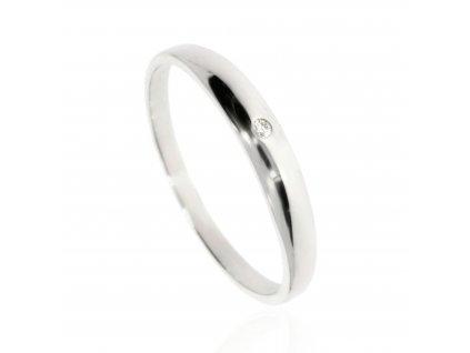 Prsten s jedním diamantem