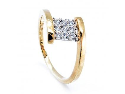 Prsten se zirkony B33642