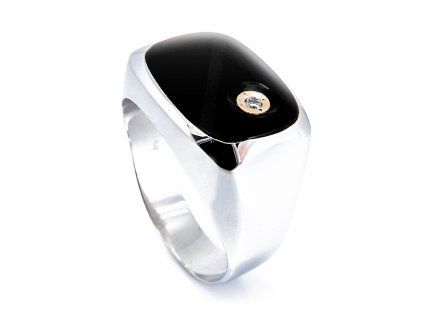 Pánský prsten s Onyxem B43402
