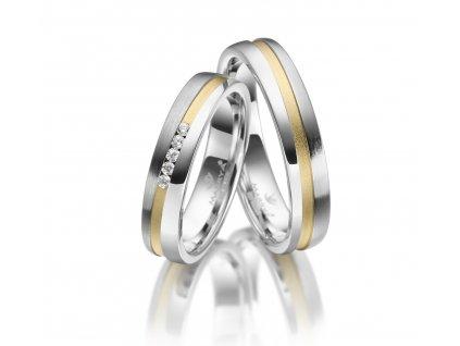 Stříbrné snubní prsteny SI-23