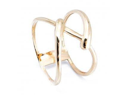 Prsten ze žlutého zlata B34554