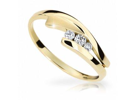 zlaty prsten df 1750 ze zluteho zlata s briliantem 2091