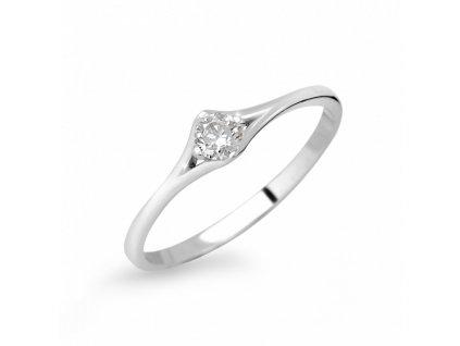 zlaty zasnubni prsten df 2957 bile zlato s briliantem 9923