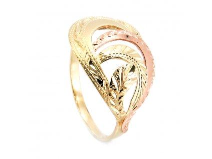 Prsten z kombinovaného zlata B43354