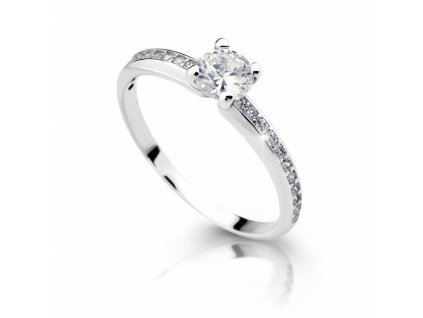 zlaty zasnubni prsten df 2354 bile zlato s diamantem 2557
