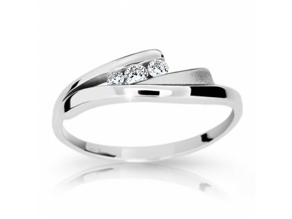 zlaty prsten df 1750 z bileho zlata s briliantem 2092