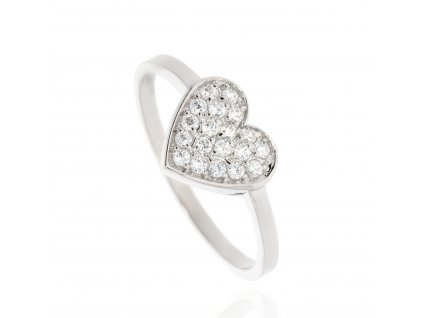 240 zlaty prsten srdce se zirkony