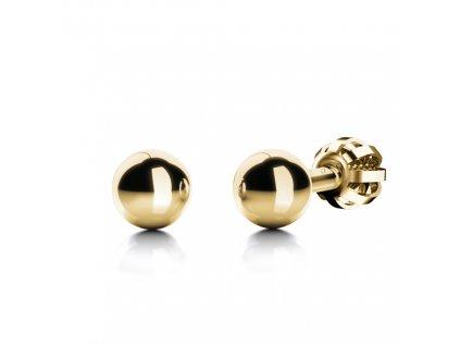 Zlaté kuličky na šroubek B49759