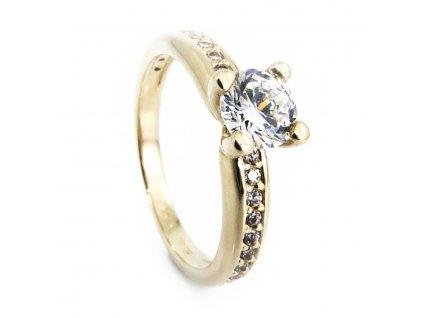 255 zlaty prsten se zirkony