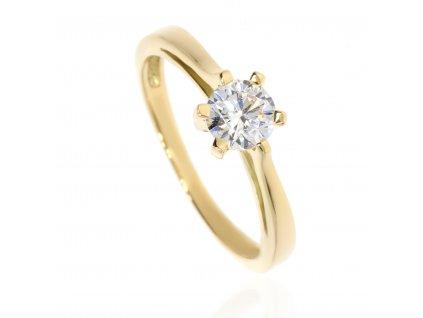 261 3 zlaty prsten se zirkonem