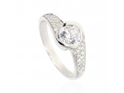 4121 prsten z bileho zlata posazeny zirkony