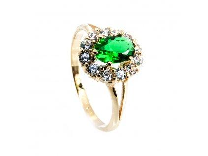 4202 zlaty prsten se zirkony