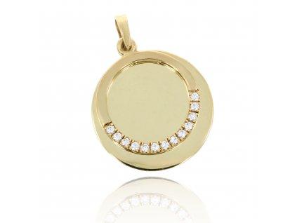 Zlatý přívěšek kroužek na rytí