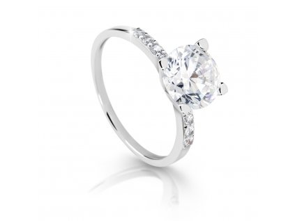 Zlatý prsten se zirkony
