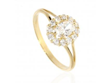 4505 zlaty prsten se zirkony