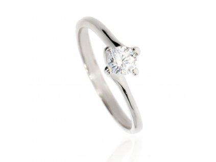 4652 zlaty prsten z bileho zlata se zirkonem