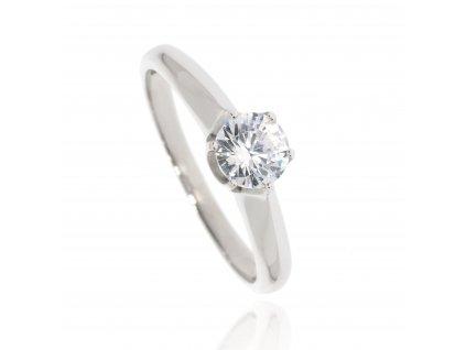 Zlatý prsten se zirkonem (Velikost 53)
