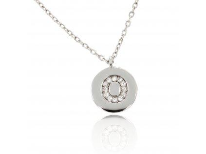 Stříbrný náhrdelníček s písmenem O