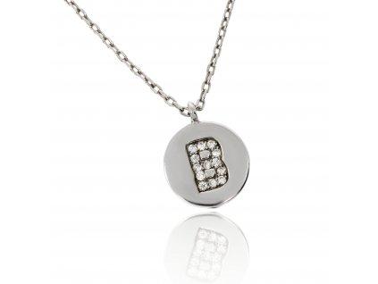 Stříbrný náhrdelník s písmenem B