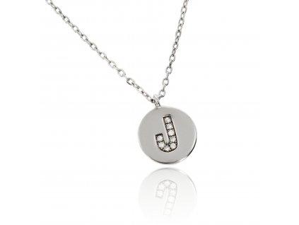 Stříbrní náhrdelníček s písmenem J