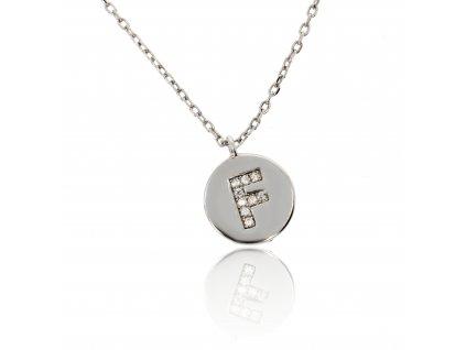 Stříbrný náhrdelníček s písmenem F