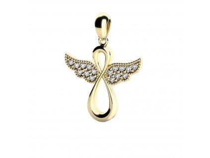 Zlatý přívěšek anděl