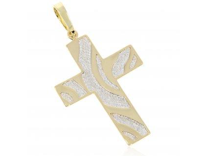 Zlatý přívěšek kříž