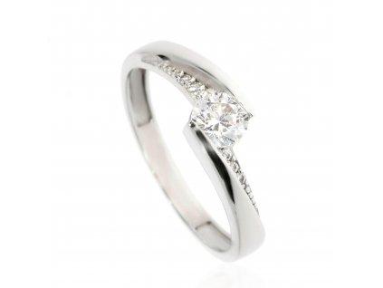 6134 zlaty prsten se zirkony