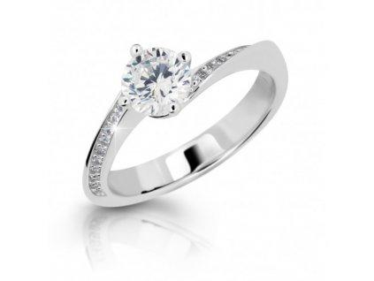 6596 zasnubni prsten se zirkony