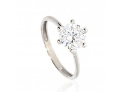 Zásnubní prsten se zirkony