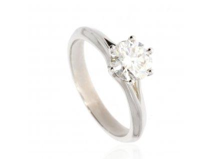 Zlatý prsten s moissanitem
