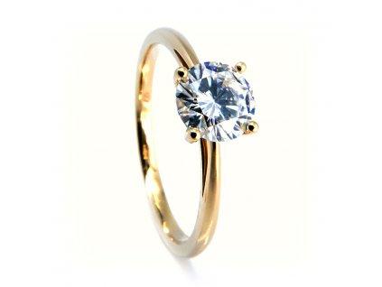 7745 1 zlaty prsten s centralnim moissanitem