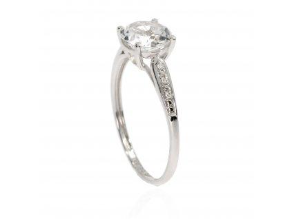8096 zlaty prsten s topazem a diamanty