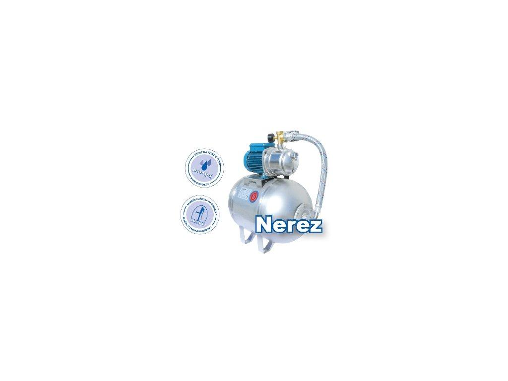 Domácí vodárna Calpeda NGXM3 + nerez nádoba 70l 230V