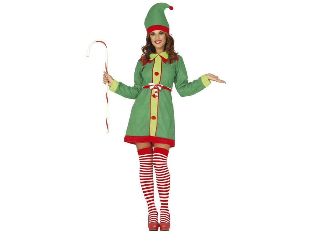 Dámsky Kostým - Vianočná Elfka (Размер - Възрастни M)