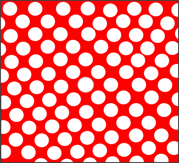 Červená tečkovaná