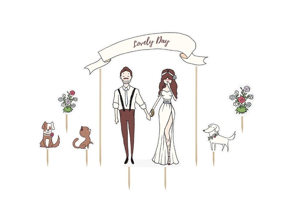 """Ozdoby na dort """"Lovely day"""""""