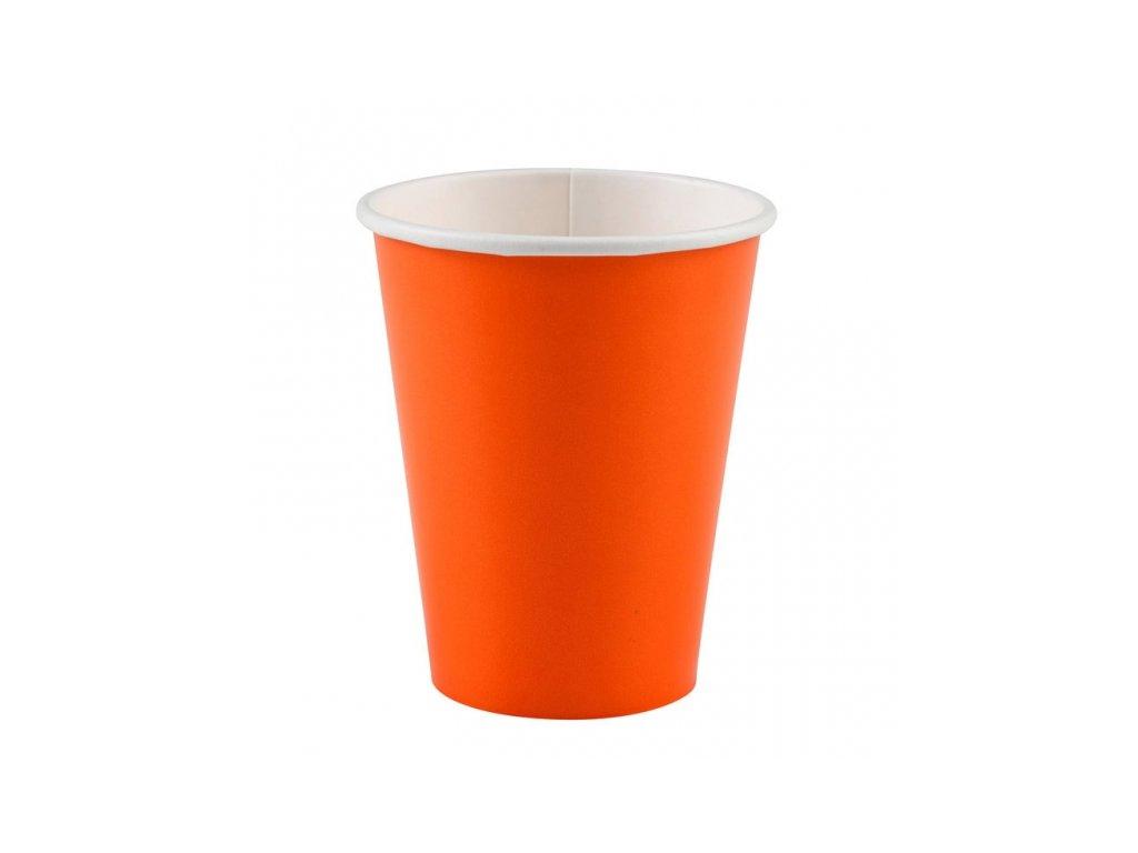 Kelímky oranžové 8 ks