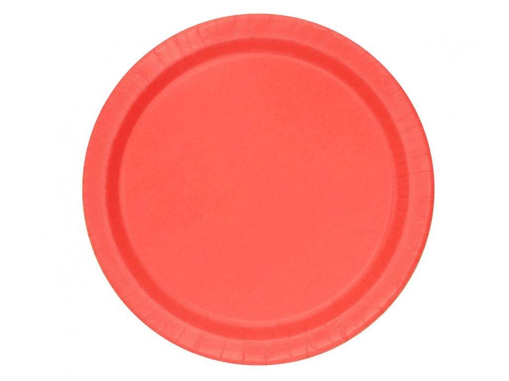 Talíře červené 8 ks