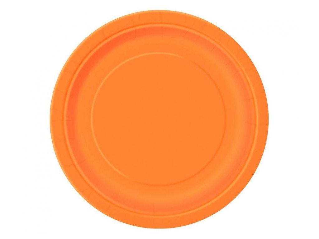 Talíře oranžové 8 ks