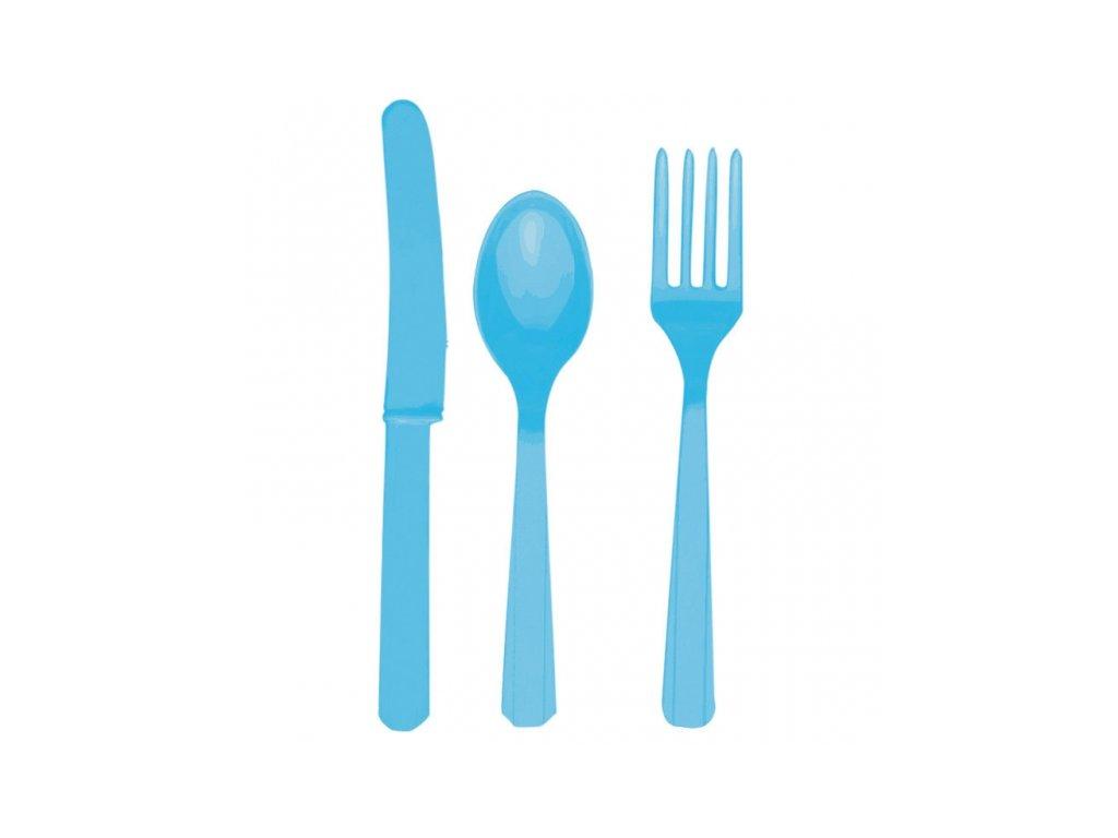 Příbor modrý pro 8 lidí