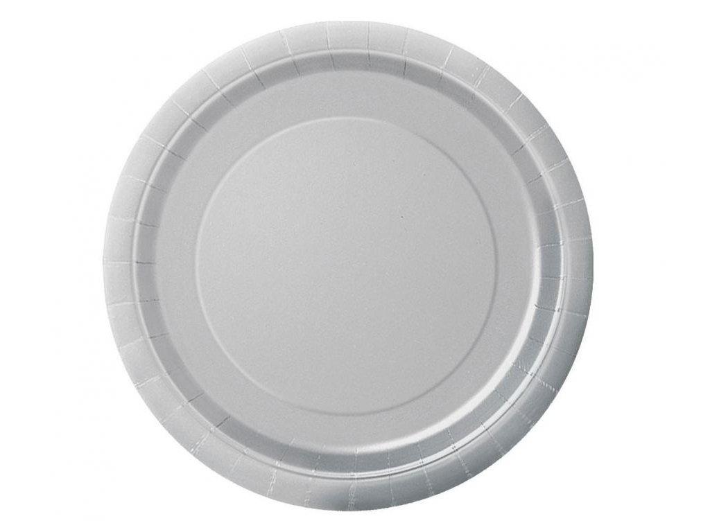 Talíře stříbrné 8 ks