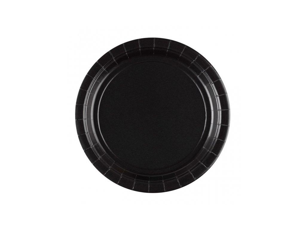 Talíře černé 8 ks